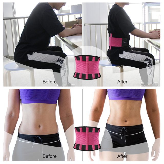 AUPCON Sweat Belt for Men & Women Sport Shapewear,Waist Trimmer Waist Trainer Sport Fitness Weight Loss Burning Fat Body Buildin 4
