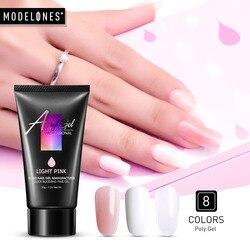 Modelones, 30 г, прозрачный, удлиняющий УФ-гель для ногтей, светодиодный гель для дизайна ногтей, Гель-лак, акриловый, удлиняющий УФ-лак для ногтей, ...