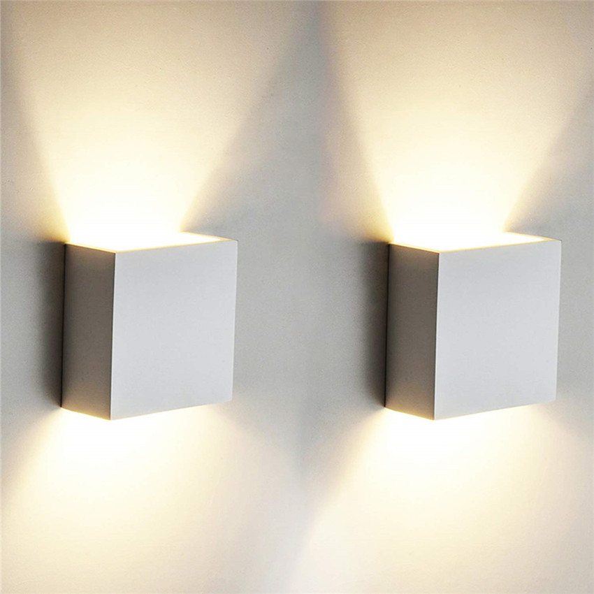 Indoor 6W LED Wall Lamps AC85-265V Aluminum Decorate Wall Sconce Bedroom LED Wall Light Warm White/ White/Natural White