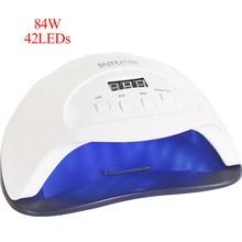 Uv led secador de unhas 84/54/24/w gel polonês cura lâmpada com temporizador inferior display lcd lâmpada seca rápida para unhas manicure ferramentas