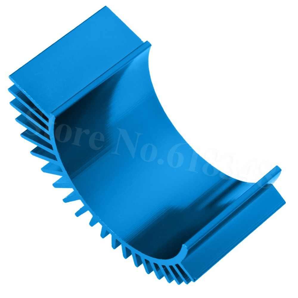 RC partes aluminio 540 550 motor disipador térmico para motor aleta de refrigeración para RC coche azul