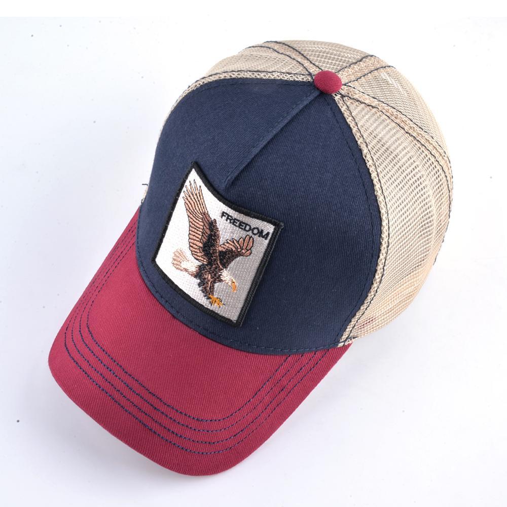 Moda animali ricamo berretti da Baseball uomo donna Snapback cappello Hip Hop estate maglia traspirante Sun Gorras Unisex Streetwear Bone 2