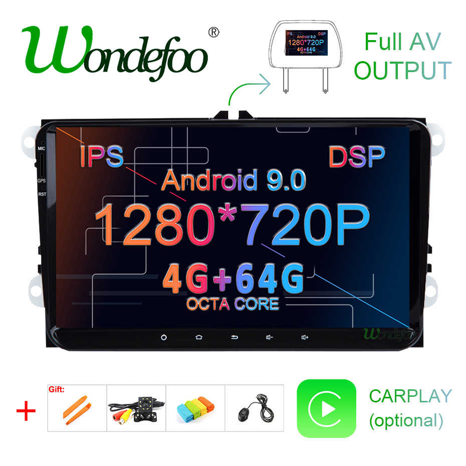 IPS DSP 4G 64G Android 9,0 2 DIN coche GPS PLAYER Para Seat Altea Toledo VW GOLF 5/6 Polo Passat B6 CC Tiguan Touran RADIO NO hay DVD
