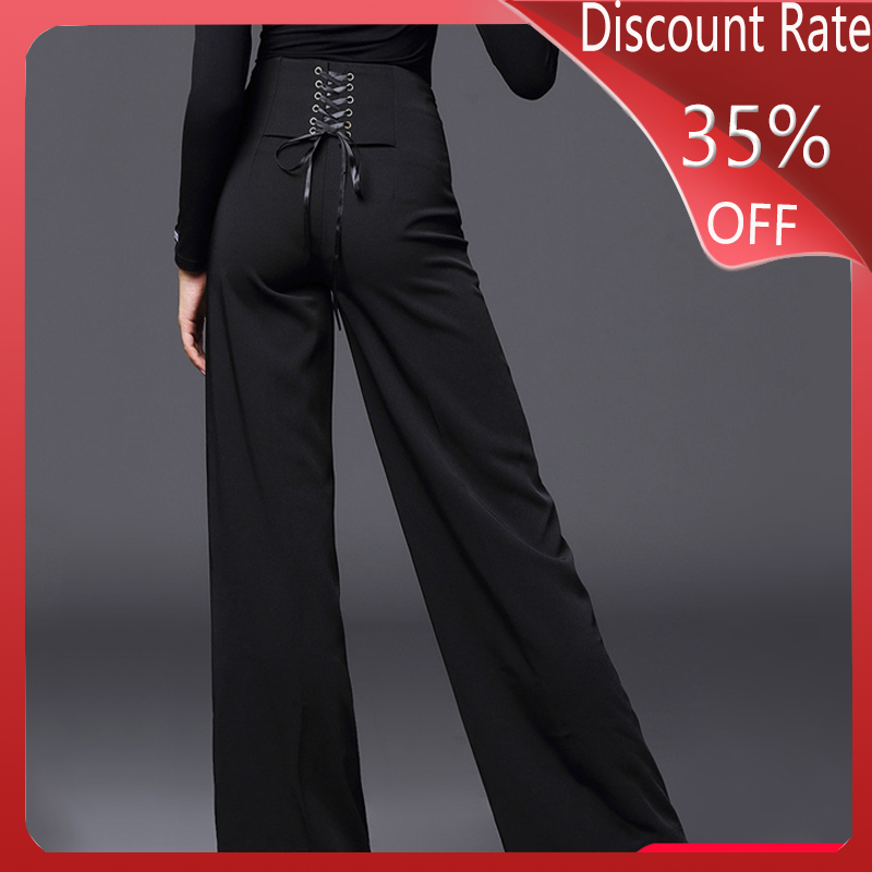 New Latin Dance Costumes For Women Black Pants Latin Dance Wear Ballroom Dance Competition Dresses Professional Pants DQS3482