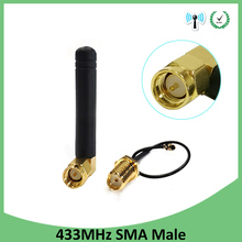 цена на 433MHz Antenna 3dbi SMA Male Connector Plug 433 MHz Directional Antena Small Size Waterproof Antenne +21cm RP-SMA Pigtail Cable