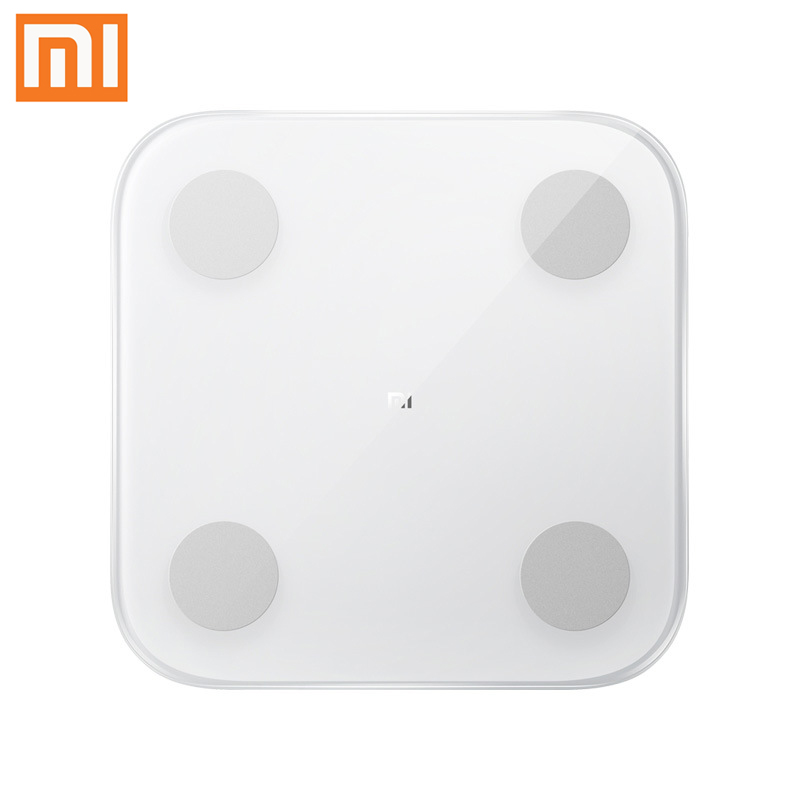 Original Xiaomi Smart Body Fat Composition Scale 2 Bluetooth 5.0 Balance Test 13 Body Data BMI Health Weight Scale LED Display