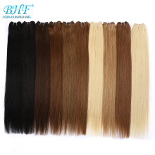 Bundles BHF Hair-Extensions Human-Hair Indian Straight Remy-100g To 16-28-Weave Blonde-Color
