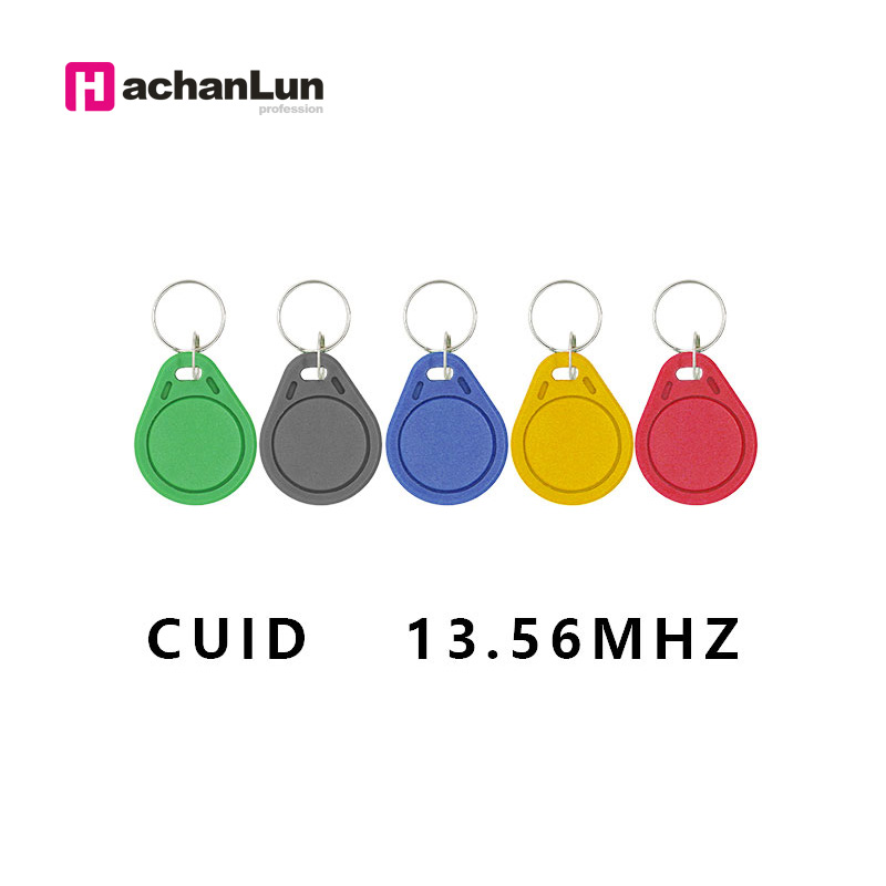 100Pcs/lot 13.5MHZ CUID Changeable MF S50 1K IC Keys Keyfobs Token Tags S50 NFC Clone Copy  Block 0 Writable14443A