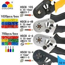 Обжимные инструменты плоскогубцы электрические трубчатые Клеммы Коробка мини зажим HSC8 10S 0,25-10mm2 23-7AWG 6-4B/6-6 0,25-6mm2 16-4 Наборы инструментов