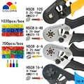 圧着ツールプライヤー電気管状端子ボックスミニクランプ HSC8 10S 0.25-10mm2 23-7AWG 6-4B/6- 6 0.25-6mm2 16-4 ツールセット