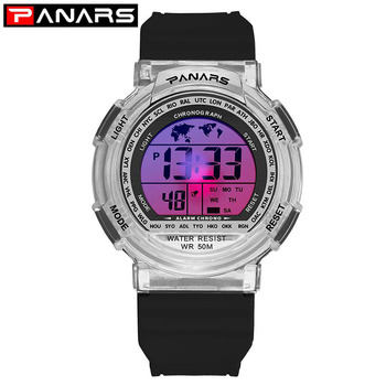panars sports military children s watches student kids digital watch camouflage green fashion colorful led alarm clock for boys Outdoor Chidren Watches For Boys Girls PANARS Multifunction Rubber Sports Electronic Wrist Watch Kids LED Date Digital Clock