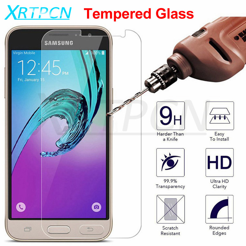 9H Tempered Glass On For Samsung Galaxy J3 J5 J7 2016 2017 J3 J7 2018 J2 J5 J7 Prime Screen Protector Protective Glass Film Case