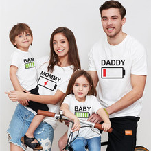 цены Family Matching Outfits Clothes Family T shirt Summer Big Sister Little Sisters Baby Boy Clothes Print Daddy Mommy Baby Tshirt