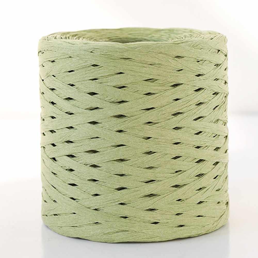 Für Diy Handgemachte 100% Bast Stroh Garn Hand Häkeln Garn Hüte Handtaschen Kissen Verpackung Verpackung Material 250m