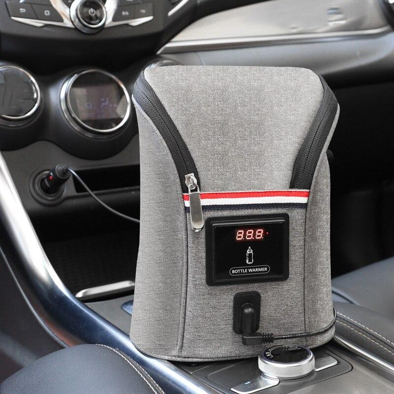 New Car-Mounted Double Bottle Warm Milk Bag USB Milk Water Warmer Travel Stroller Insulated Bag Baby Nursing Bottle Heater