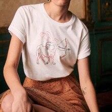 Astro – t-shirt à manches courtes pour Femme, ample et doux, en coton, Chic, rétro, été, 2021