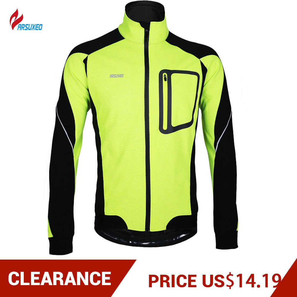 Clearance! ARSUXEO Cycling Jacket Sports Running Bike Jacket Windproof UV Protection Bicycle Jersey Breathable Lightweight Vest