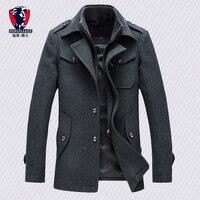New arrival fashion mens jackets version of woolen men's jacket double collar warm woolen coat casual warm jacket PP255177