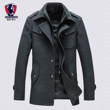 Nueva llegada chaquetas de moda para hombre versión de chaqueta de lana para hombre Doble cuello cálido abrigo de lana casual chaqueta caliente PP255177