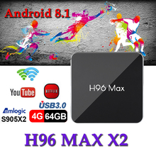 Brasil boxes android8.1 tv box H96max x2 H.265 1080P S905X2 Quad Core 4GB 32GB 64GB Netflix Bluetooth Media Player smart tv box smart tv set top box amlogic s905x2 h96max x2 tv boxes 4gb64gb 1080p h 265 android8 1 tv box support youtube netflix tv boxing
