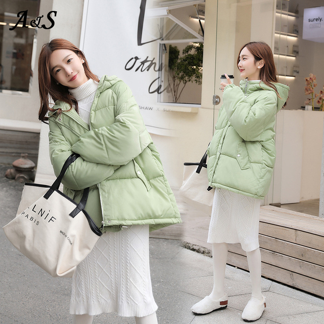 Фото anbenser 2020 зимняя пуховая куртка женские короткие куртки цена