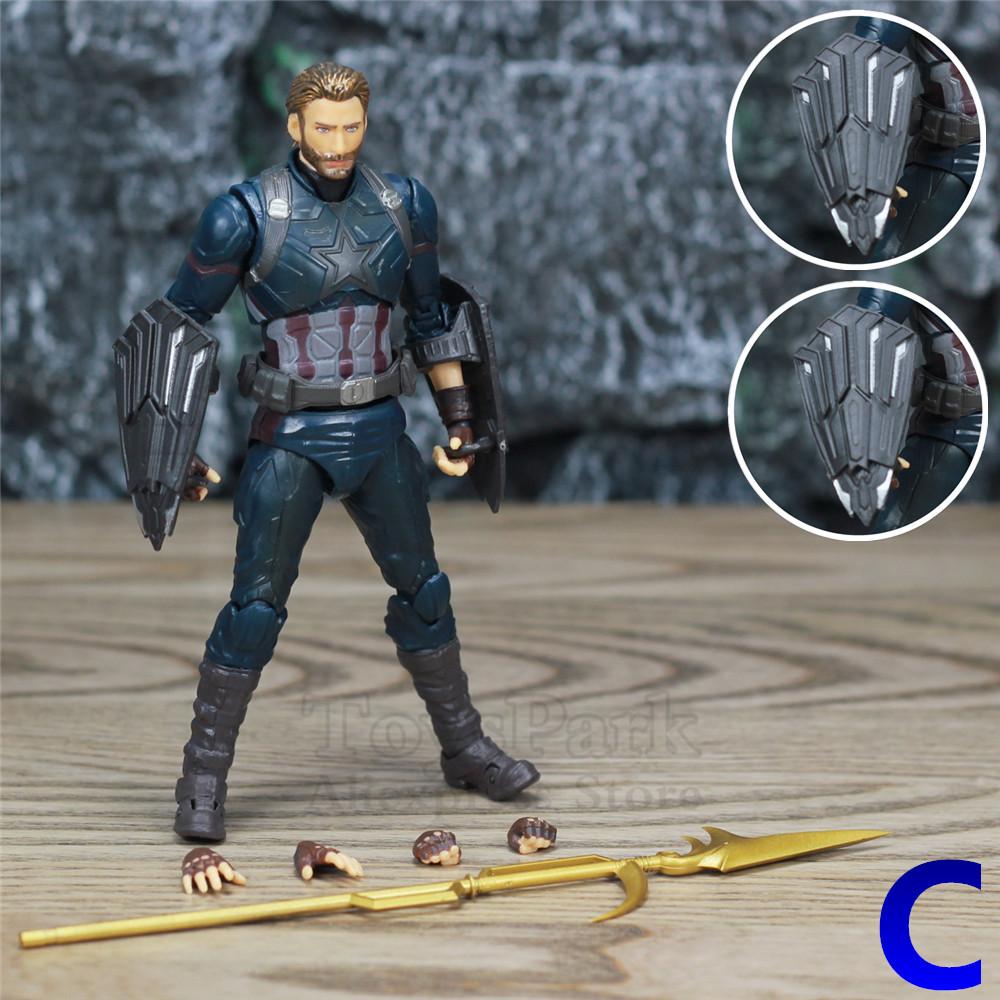 """Marvel Avenger Captain America 6/"""" Action Figure Steve Rogers Wakanda Shield KO/'S"""