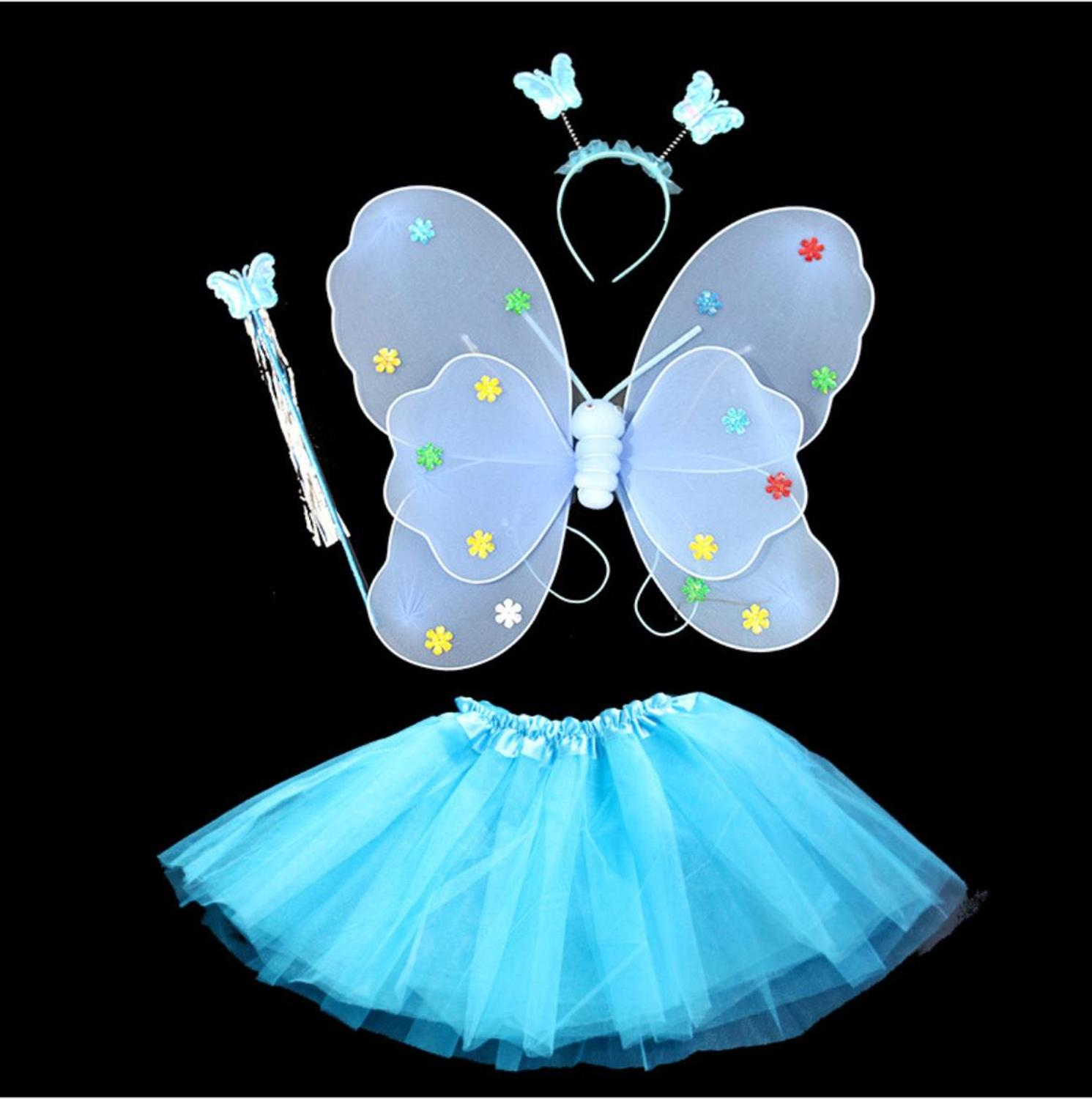 Halloween Cosplay Girl Dress Butterfly Style Cosplay Fancy Baby Girls Birthday Party Dresses Kids Cosplay Halloween Costume