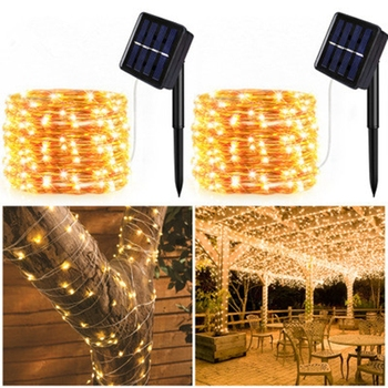 Solar String Fairy Lights 10m 100LED / 20m 200 LED Waterproof Outdoor Garland Power Lamp Christmas For Garden Decoration