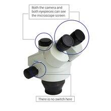 Brand 3.5X-45X Simul-Focal Trinocular Stereo Microscope Head Continuous Zoom Microscope Head Trinocular Stereo Microscopio Lens