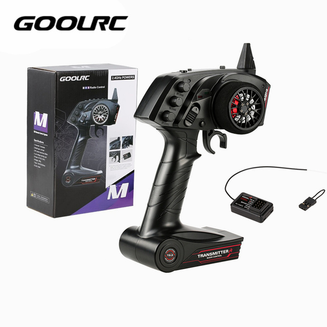Original High Quality GoolRC TG3 2.4G 3CH RC Transmitter Digital Radio Remote Control Transmitter with Receiver for RC Car Boatcontrol acnecontrol gelradio control photography