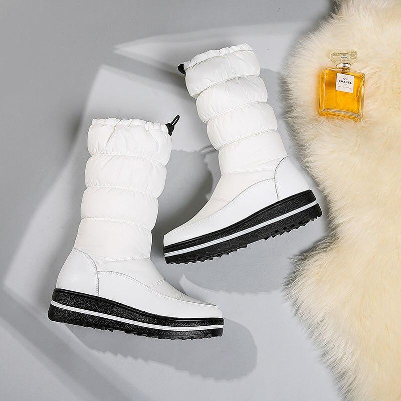Winter Women Mid-Calf Snow Boots Platform Winter Boots Thick Fur Plush Waterproof Non-slip Boots Women Winter Shoes Botas Mujer
