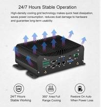 2 ddr4 industrial mini pc intel core i7 10510u 8550u i5 10210u 4g módulo lpt hd gpio 6 com 4 rs485 windows 10 fanless computador