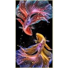 Balık hayvanlar 5D elmas nakış çapraz dikiş DIY elmas boyama tam kare mozaik rhinestones ana İğne Painte