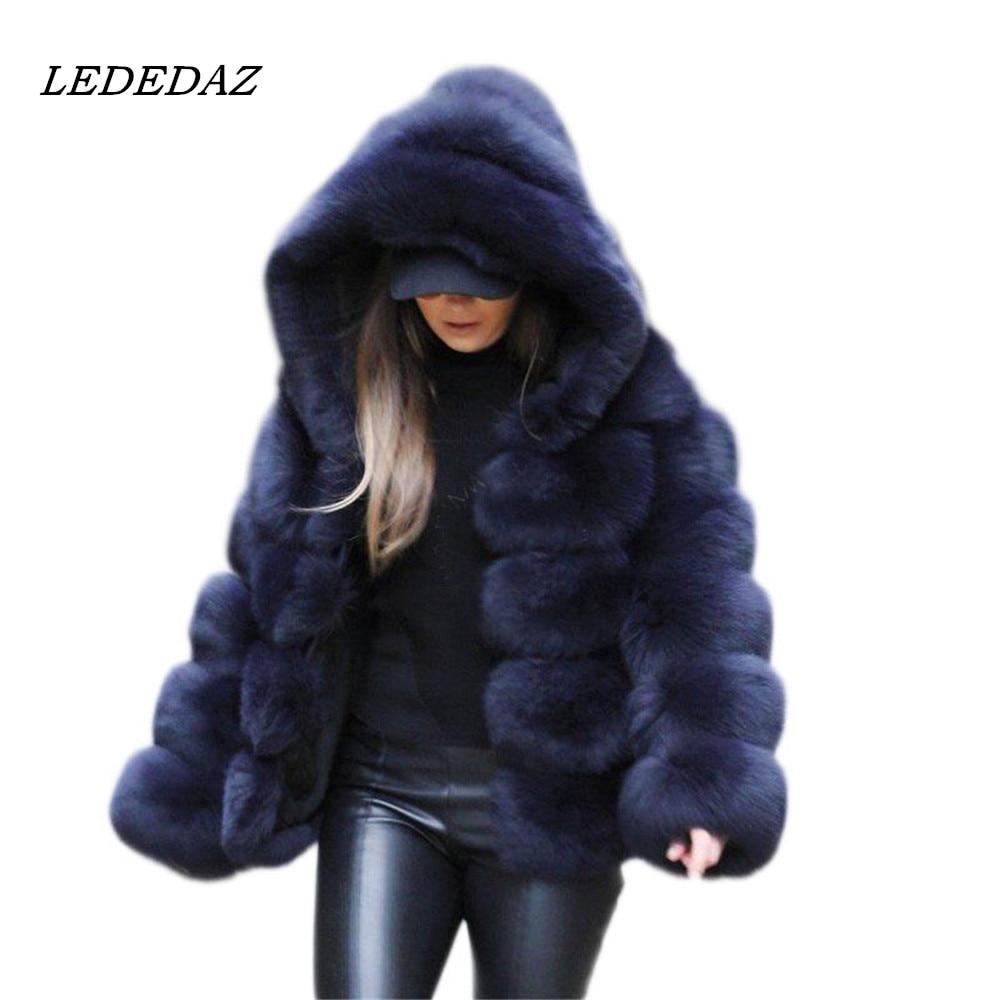 Womens Real Mink Fur Coat Hooded Mid Long Jacket Thicken Winter Parka 2019 Warm