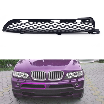 Right Black Front Grilles Upper Bumper Mesh Grille Grill Trim fit for BMW X5 E53 2004 2005 2006 image