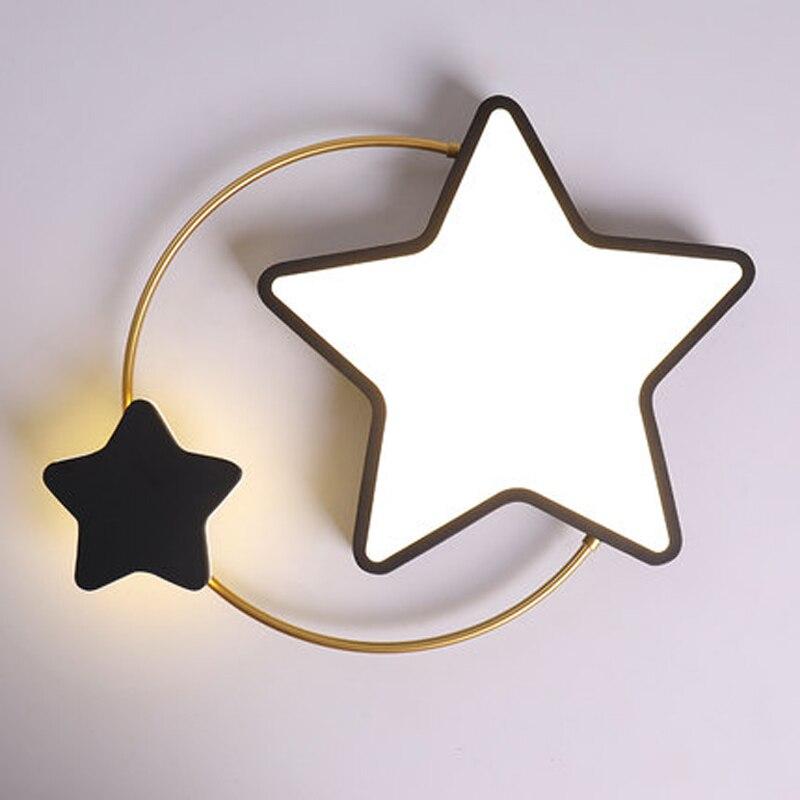 teto personalidade criativa led estrela criancas quarto lampada estudo crianca 05