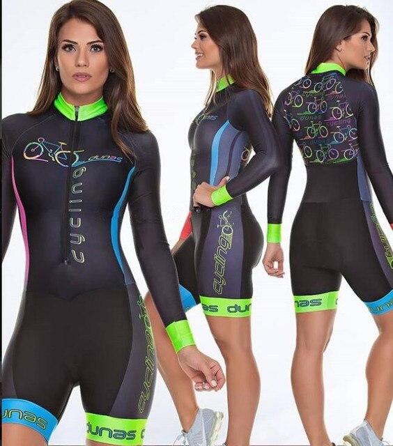 Terno de triathlon profissional, camiseta de ciclismo preta feminina, macacão, manga longa em gel, conjunto de ciclismo, 2019 1
