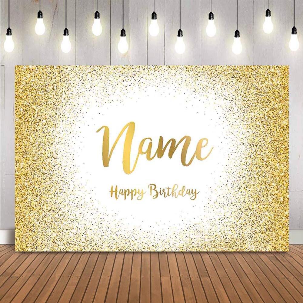 Золотой блестящий фон на день рождения, индивидуальный персональный фон для фотосъемки, свадебный фон для фотосессии в блестящий горошек