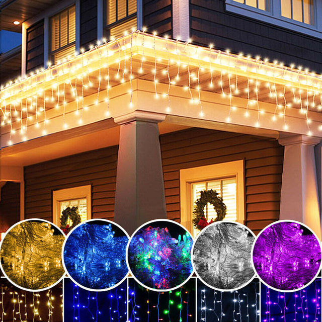 3-30M Festoon Christmas Curtain Icicle LED String Light Indoor Outdoor Party New Year Garland Fairy Decoration Light for Home 5