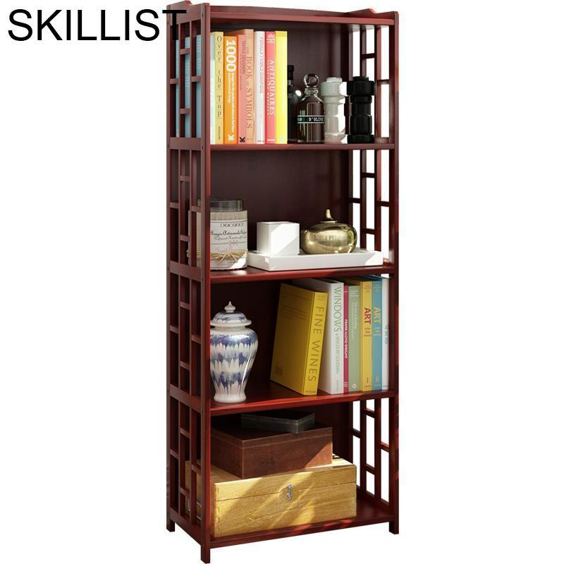 Libreria Oficina De Maison Decor Estante Para Livro Meuble Rangement Wooden Retro Furniture Decoration Bookcase Book Case Rack