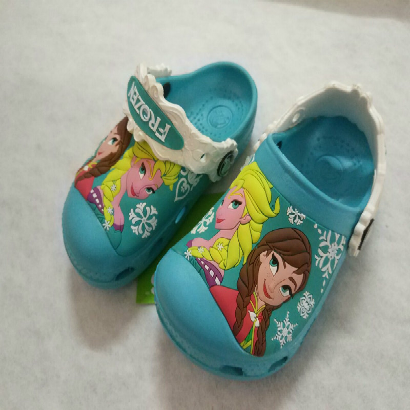 Snow Queen Elsa Anna Sofia Princess Baby Slippers 2019 Swimming Shoes Kids Water Shoes Anti-slip Kids Slippers Cute Girl Shoes
