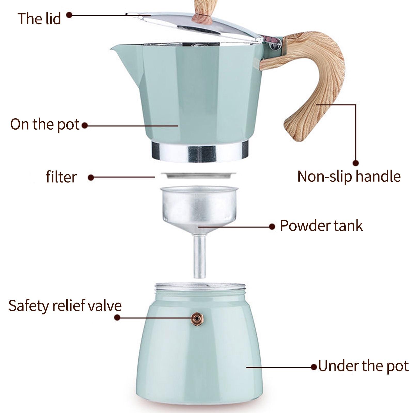 Алюминий итальянский Moka эспрессо Кофе Maker Кофеварка плита верхний горшок 150/300 мл Кухня инструменты плита Кофе чайник