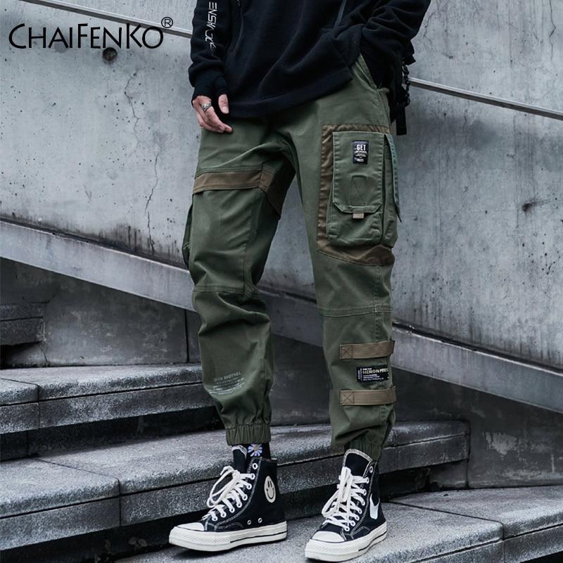CHAIFENKO Hüfte Hop Cargo Hosen Männer Mode Harajuku Schwarz Harem Hose Streetwear Jogger Sweatpant Multi-Tasche Casual Herren Hosen