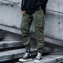 CHAIFENKO Hip Hop Cargo spodnie męskie moda Harajuku czarne spodnie haremki Streetwear biegaczy spodnie dresowe multi-pocket Casual męskie spodnie