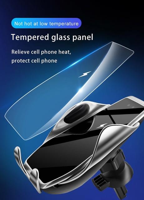 FDGAO 15W automatyczny czujnik podczerwieni samochodów Air Vent bezprzewodowa ładowarka uchwyt do telefonu dla iPhone 11 Pro XS XR X 8 Samsung S20 S10