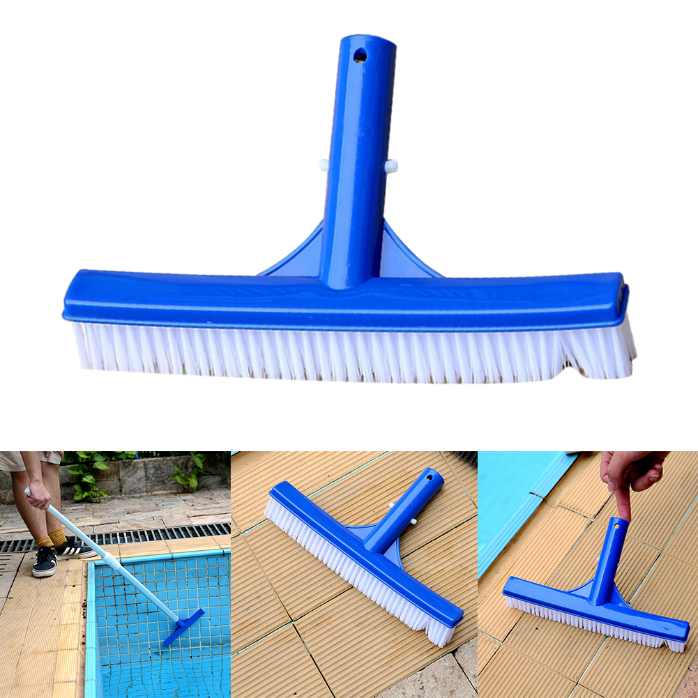 10 Inch Plastic Cleaning Brush Tip Cleaner Curved Swimming Pool Broom Algae Portable Surfaces Heavy Duty Spa Walls Accessories