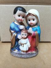 Catholic Christian holy statue of the Holy Family of Jesus Mary ornaments 13cm virgin mary statue christmas