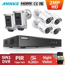 ANNKE 8CH 2MP HD Video Security Surveillance System With 4X Day Night Vision Bullet Camera 2X PIR Detection Spotlight CCTV Cam