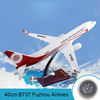 40cm Resin B737-800 Fuzhou Airlines Airplane Model Boeing 737 B-5430 Aircraft Airways Airbus Plane Model Aviation Scale 1:100