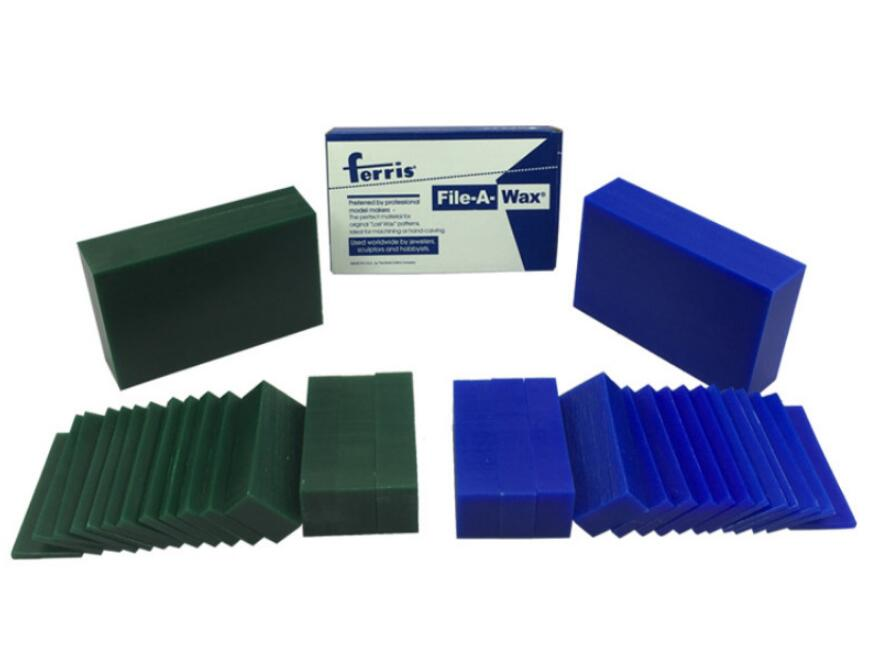 Wax Brick Blue Green Sliced Jewellers Model Carving Wax, Engraving Ring Mold,Wax Plate Brick Ferris File-A-Wax Block